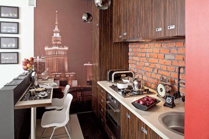 Maleńka kuchnia o warszawskim klimacie