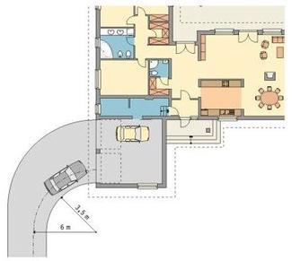 Garaż połączony z domem czy garaż w piwnicy? Wady i zalety rozwiązań - Wjazd do garażu z boku