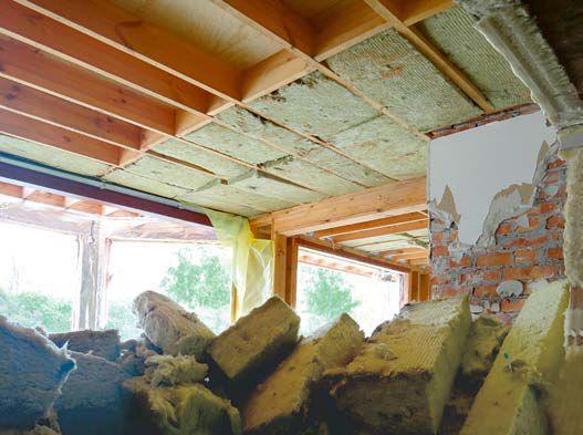 Przenoszenie domu - izolacja stropu