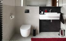 Remont łazienki. Obudowa wanny, wymiana starej umywalki i baterii, montaż stelaża do WC