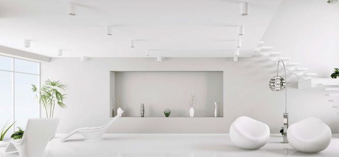 Białe farby do ścian i sufitów