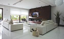 11 pomysłów na płytki podłogowe w salonie. Zdjęcia