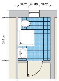 Kabina prysznicowa w łazience z oknem