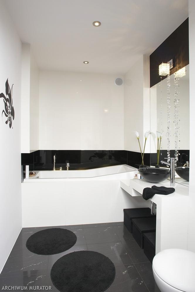 Aranżacja biało-czarnej łazienki. Pomysł na nowoczesne i eleganckie wnętrze [ZDJĘCIA] - Łazienka ...